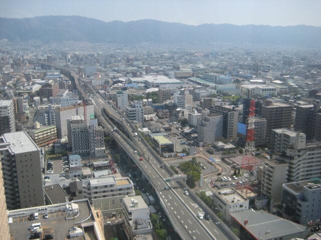 上空から見た東大阪市