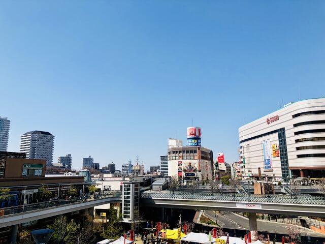 上空から見た川口市