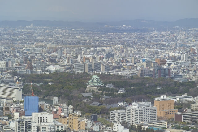 上空から見た名古屋市