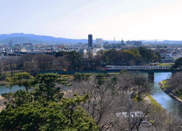 岡崎市の公園から見た景色