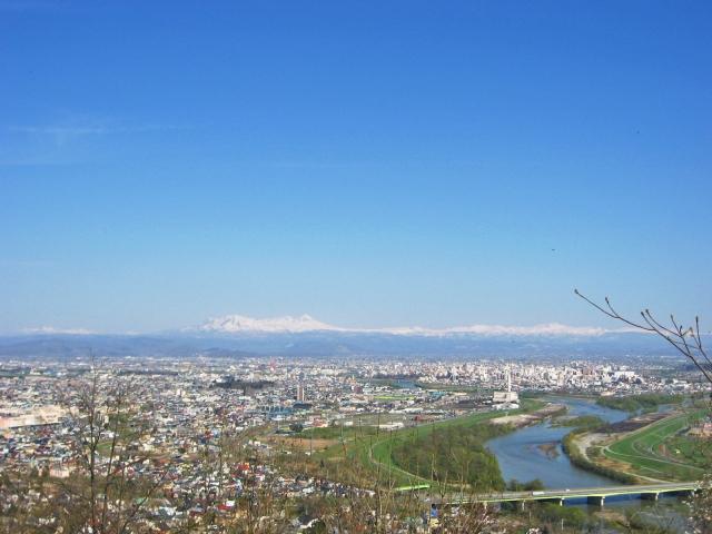 上空から見た旭川市