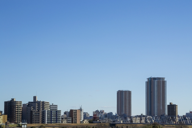 上空から見た市川市