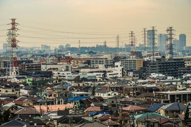 上空から見た川崎市