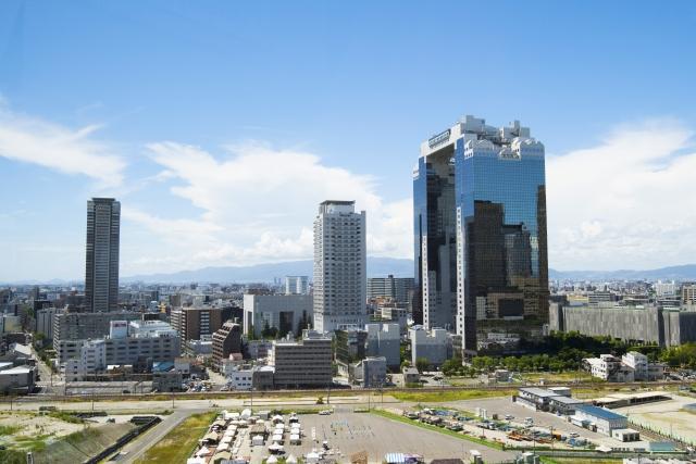 大阪市のビル群