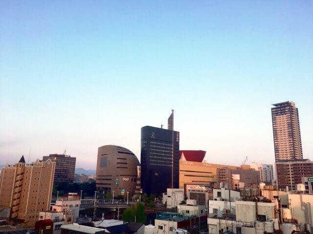 福岡県北九州市の上空