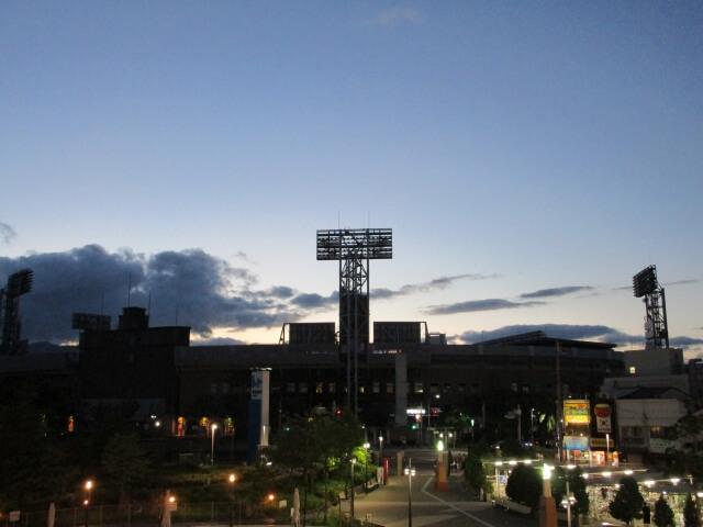 兵庫県西宮市の上空