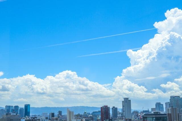 大阪府の上空